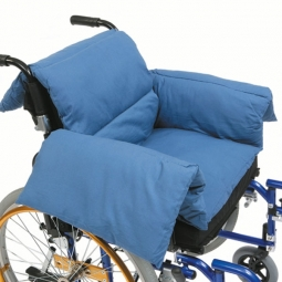 Coussin thermique pour fauteuil roulant Bleu