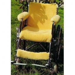 Revêtement en peau d'agneau pour fauteuil roulant