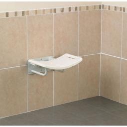 Siège de douche rabattable sans pieds
