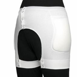Caleçon à protecteurs de hanches boutonnable, avec poches pour protecteurs