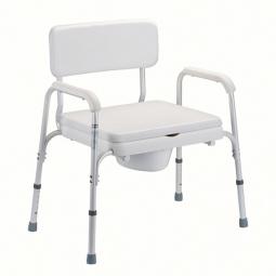 Toilettenstuhl TSB mit Rücken- und Armlehne