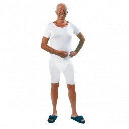 Pflegebody unisex kurzer Arm mit teilbarem Reissversc..