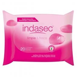 Lingettes imprégnées Indasec pour la toilette intime