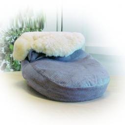 Chauffe-pieds en peau d'agneau