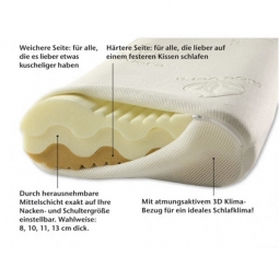 Kopfkissen Premium de Luxe - 60x 35 cm