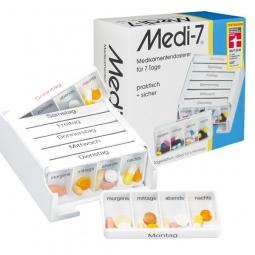 Medi 7 - Medikamentendosierer für eine Woche mit separater Tagesration