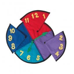 Legespiel Uhr inklusive Wäschesack