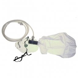 Atemmaske für hohe Konzentration mit Atembeutel zu Kröber O2