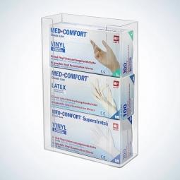 Handschuhboxenhalter aus Acryl für drei Dispenser