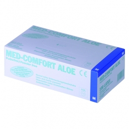 Gants latex jetables - Med-Comfort Aloe / Non poudrés, aloe vera