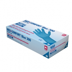 Nitril Einweghandschuhe Med-Comfort Blue 300