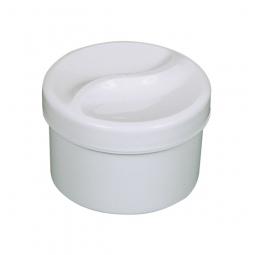 Gobelet en PE pour appareil dentaire, blanc avec panier