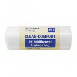 Clean Comfort PE Müllbeutel, 30 L, 500x 600 mm, 50 Be..