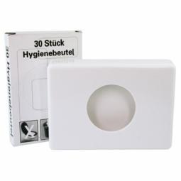 Hygienebaghalterung aus Kunststoff weiss/chrom