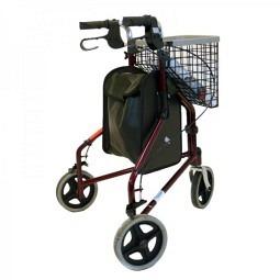 Déambulateur à trois roues Tri-Walker avec panier, tablette et sac inclus