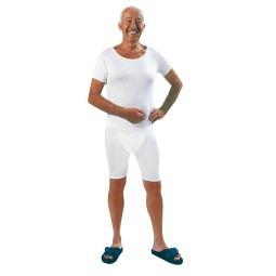Pflegebody unisex kurzer Arm mit teilbarem Reissverschluss am Bein